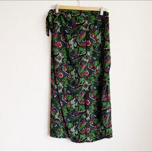 high waisted soft easy wrap skirt